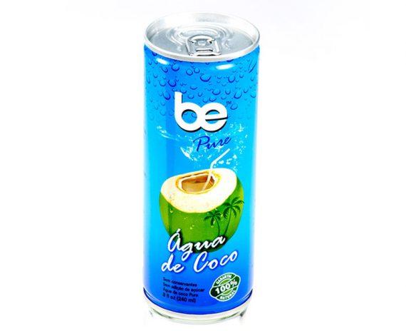 Кокосова вода, натурална, be Pure, кен, 240ml